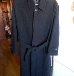 мужское пальто с поясом, размер 52 , рост 170-176с