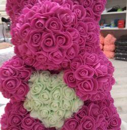 Αρκούδα τριαντάφυλλα 40 εκ