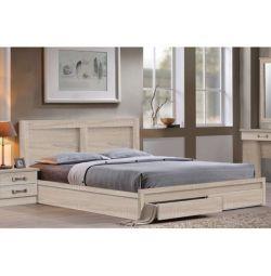 Κρεβάτι Capri με 2 Συρτάρια σε Sonama 150x200