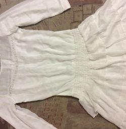 Платье летнее белое bershka