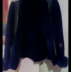 Σύντομη παλτό με γούνα