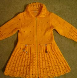 Dress - cardigan with zipper for 2 - 4 years
