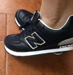 Нові люкс кросівки new balance 574 шкіряні