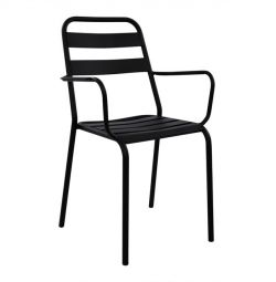 CHAIR ARMCHAIR METAL BLACK MAT JASON HM5176