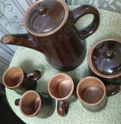 Clay coffee set (USSR)