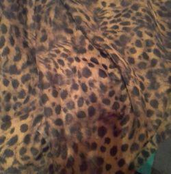 Ткань Шифон леопард