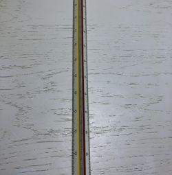 Cetvel ölçeği 3v 1