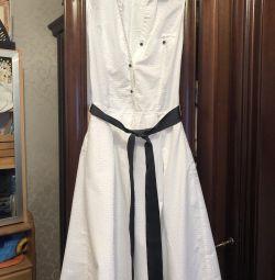 Платье Zara, р-р М, белое платье Зара