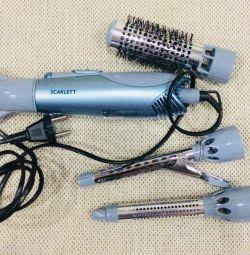 Hairdryer-brush