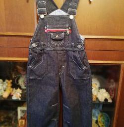 Полукомбинезон джинсовый на 92/98 размер