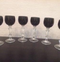 Yeni SSCB şarap bardakları