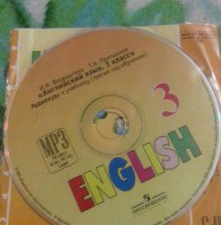 Disk to the textbook in English grade 3 Vereshchagin