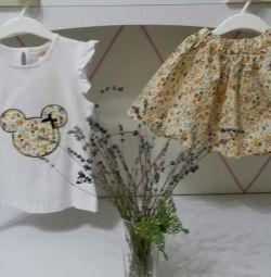 Комплект юбка и футболка (новый)