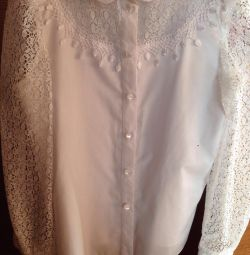 Elegant white blouse 134-140