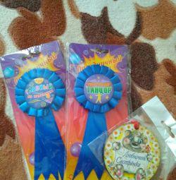 Бутафория медали для праздника