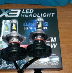 LED lamps LED X3, H4 base, 50W 6000LM