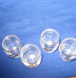 Glasses with gilding