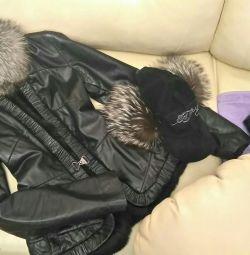 İlkbahar için deri ceket