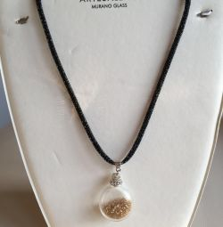 Necklace NEW with Murano Glass Tag