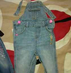 Denim overalls mothercare 6-9months