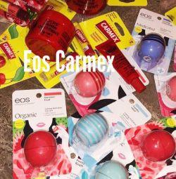 Eos, carmex новые бальзамы, доставка бесплатно