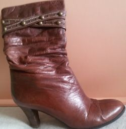 Ankle boots, genuine leather, Russia, r-38