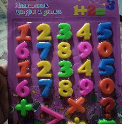 Numere pe un magnet
