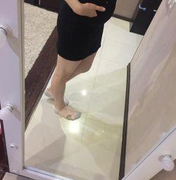 Μαύρη φούστα denim
