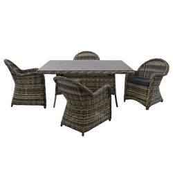 5MM RATTAN GRAY HM10170 SET SET