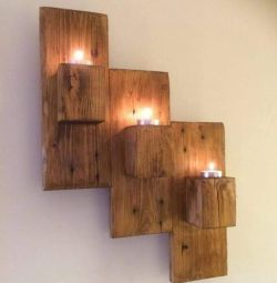Handmade wooden wall mounted wall mount