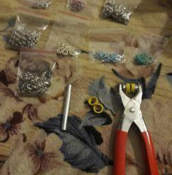 Новые щипцы с набором клепок