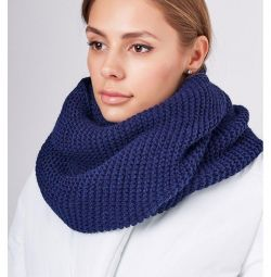 Snood collar warm blue