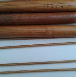 20 cm μπαμπού βελόνες πλεξίματος