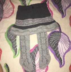 Tights with a skirt