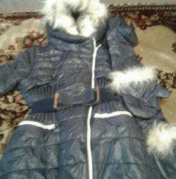 The coat is very warm in excellent condition with mittens