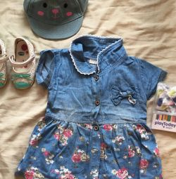 Босоніжки chicco сандалі + плаття