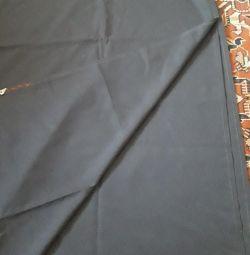 Yeni koyu mavi pantolon kumaşı