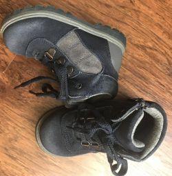 Boots din piele naturală
