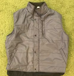 Men's vest new warmed gray