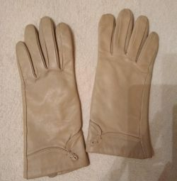 Leather gloves new