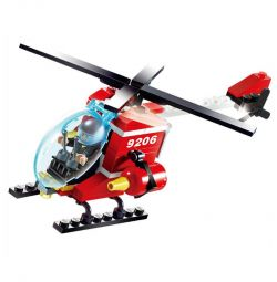 Designer children's fire helicopter