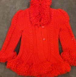 Jachetă tricotată pentru fete