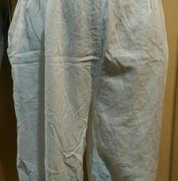 Λευκά καλοκαιρινά παντελόνια