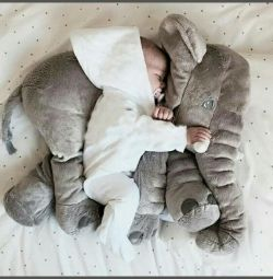 3in1 Plush Elephant Plaid Pillow Toy