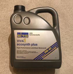 SRS ViVA 1 ecosynth plus SAE 0W-40 4 oil of l