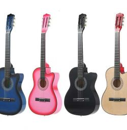 Bright colored guitars. Wood (not plastic!)
