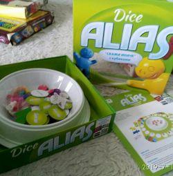 Новая игра alias dice скажи иначе с кубиками