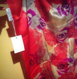 Новый платок из натурального шелка 90/90