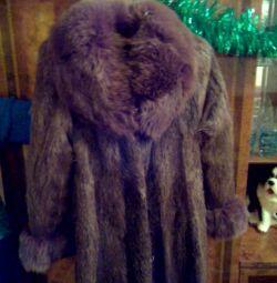 Palton natural de blană