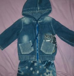 Skirt and Jacket jeans 9-12 months.